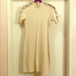 Max Azria fitted dress with chain detail